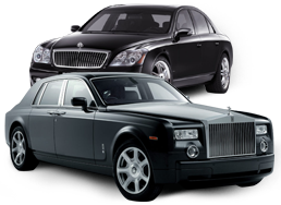 Luxury limousine in France